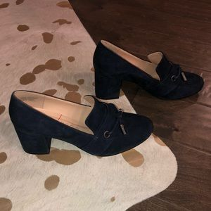 Sole Society block heel loafers